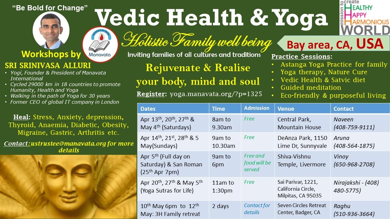 Holistic Health and Yoga Workshops in USA – Manavata Yoga